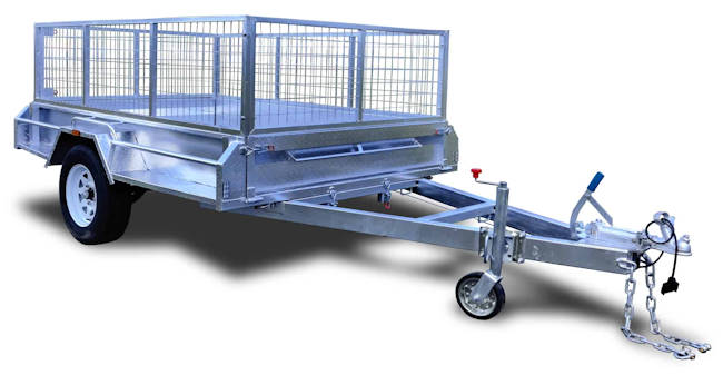 Single Axle Box Trailer, 7x4 1,400 kg rating