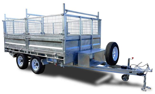 Hydraulic tipper, flat top trailer from Midway at Macksville