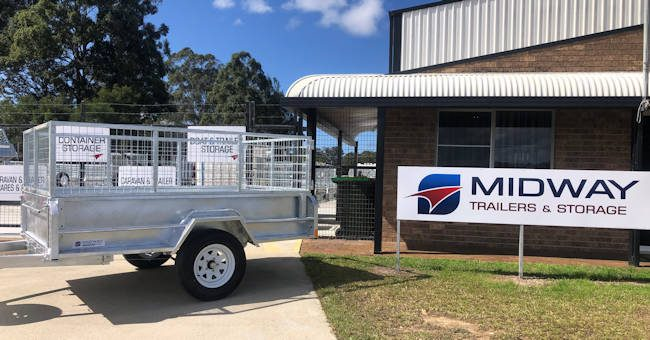 Single Axle Trailer With Cage, Midway Trailers, Macksville