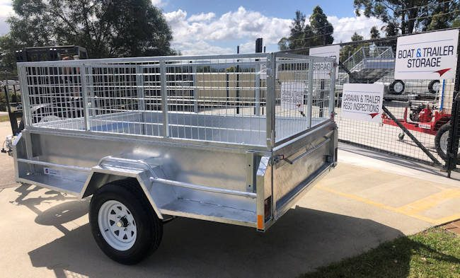 Custom 6x4 trailer with cage sides, from Midway Trailers at Macksville